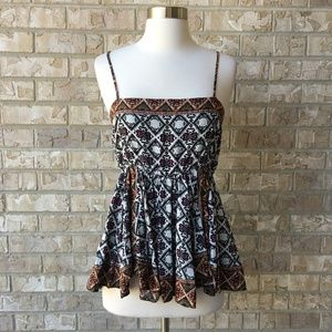 NWT Maurices Fit Flare Peasant Cami Top Size M